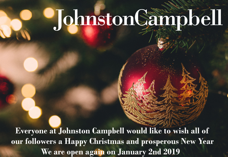 Seasons greetings from all at Johnston Campbell